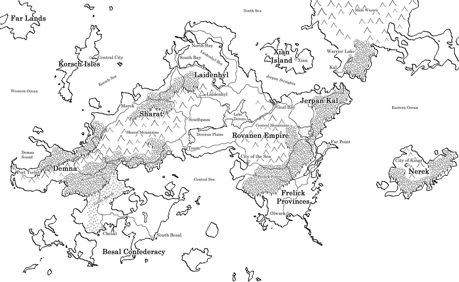 Tiarve - World Map